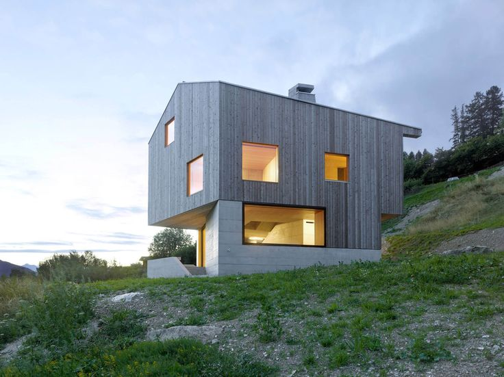 Marvelous Minimalist Swiss Chalet Embraces Surrounding Vistas Ideas