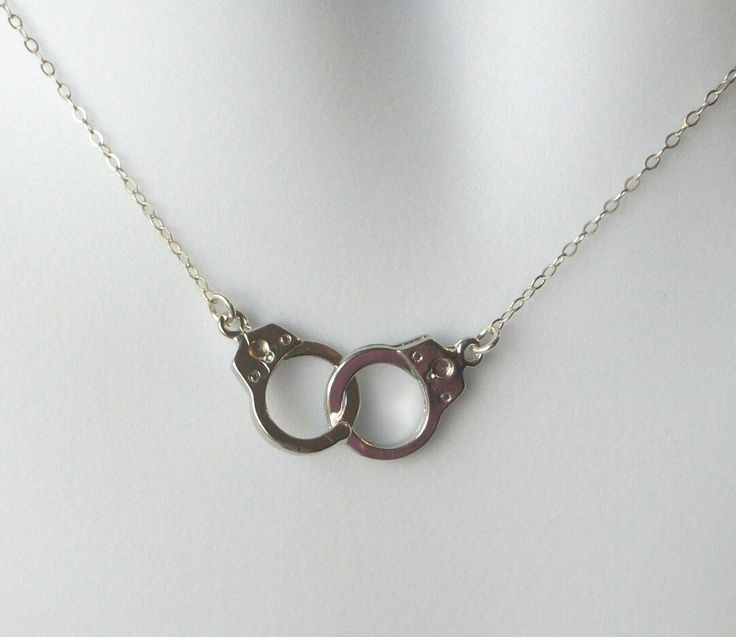 Excited to share the latest addition to my #etsy shop: Silver Handcuff Necklace - Handcuff Pendant Necklace - Sterling Silver Necklace - Handcuff Steampunk Necklace - Steampunk http://etsy.me/2jzEGVE