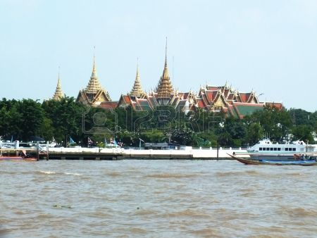 """Ratanakosin Island- Take a ride on a commuter canal boat to Ratanakosin Island, the """"old city,"""" which houses many of Bangkok's most important temples, administrative buildings, and museums."""