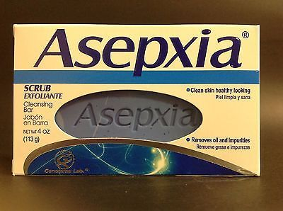 1 JABON ASEPXIA EXFOLIANTE CONTRA ACNE / SCRUB CLEANSING SOAP BAR FOR ACNE 4 OZ