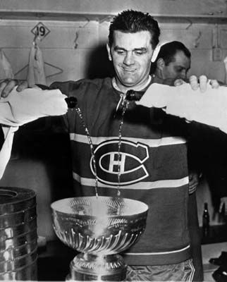 Richard filling the cup! - #Habs #Hockey