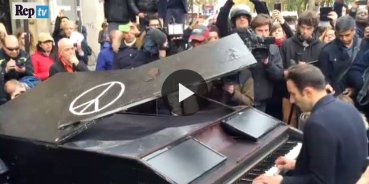 "Pianista fuori al Bataclan suona ""Imagine"" di John Lennon (VIDEO)"