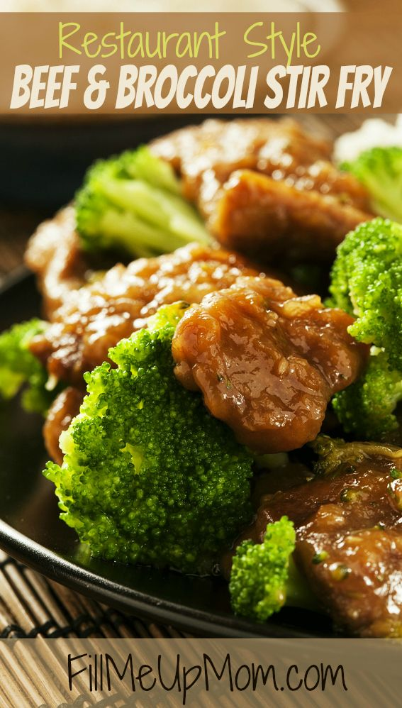 Restaurant Style Beef and Broccoli Stir Fry