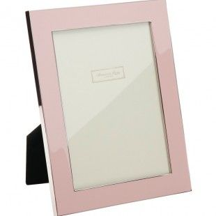 Contemporary Enamel Picture Frame - Baby Pink