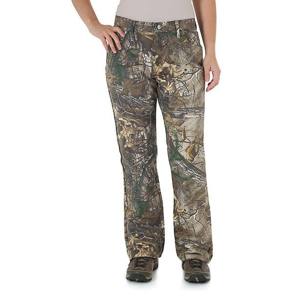 Wrangler Women's Jeans ProGear Camo Jean  (Size (49 CAD) ❤ liked on Polyvore featuring jeans, realtree ap xtra, women, camo print jeans, camouflage jeans, brown jeans, camo jeans and wrangler jeans