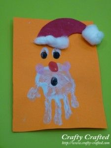 santa christmas craft (: