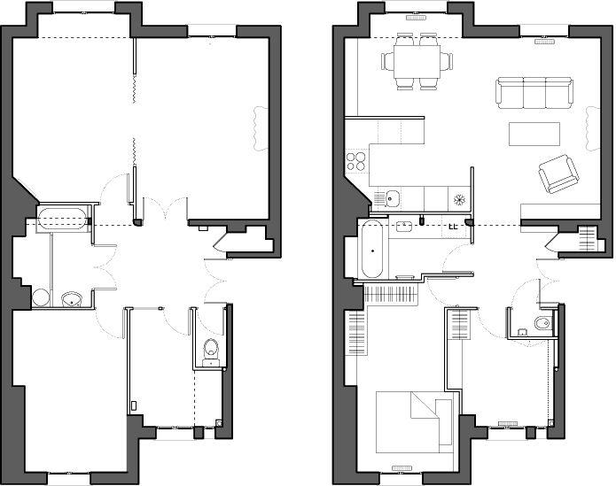 63 m² pour une jeune couple