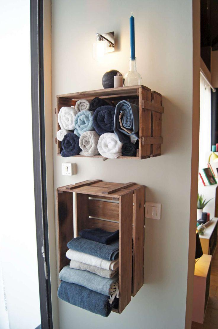 17 meilleures id es propos de porte serviettes en forme for Rangement salle de bain petite