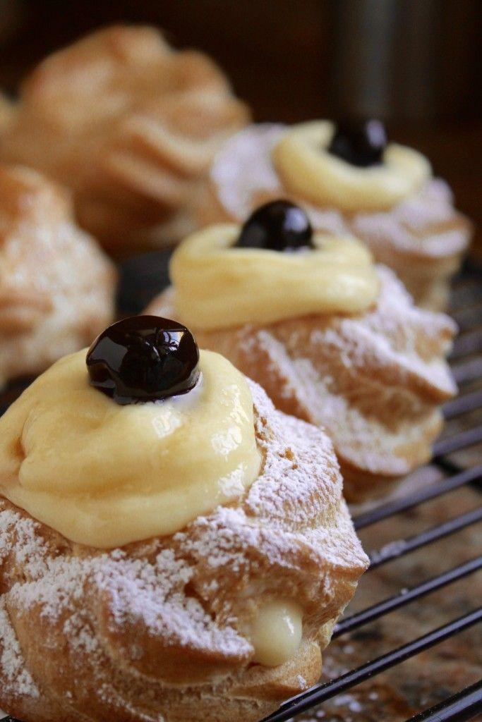 Zeppole di San Giuseppe (St. Joseph's Day pastries- Italian)