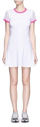 Monreal London Mesh sleeve A-line tennis dress, weiss, white, Tennis Dress, Tennis Fashion Women trendy Tennis Outfits for her, Tennismode, sportliche Mode fürs Tennisspielen.