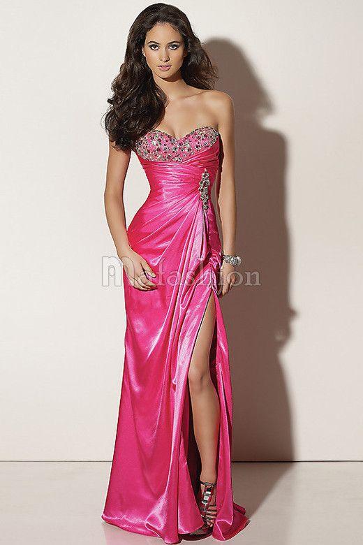 9 best Vestidos coral images on Pinterest | Party wear dresses ...