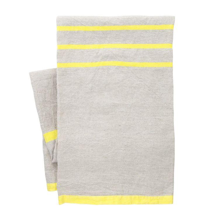 Tovaglia/coperta Usva, lino-giallo di Lapuan Kankurit