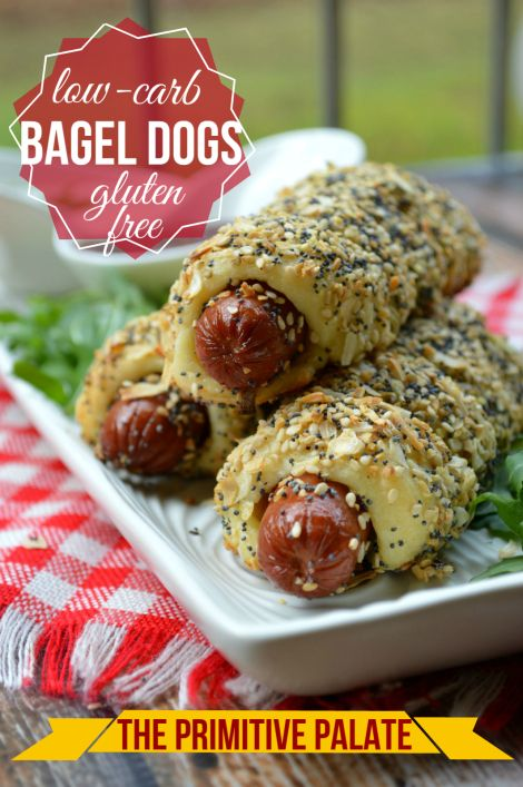 Low Carb, Keto & Gluten-free Bagel Dogs! Great for kids and adults!