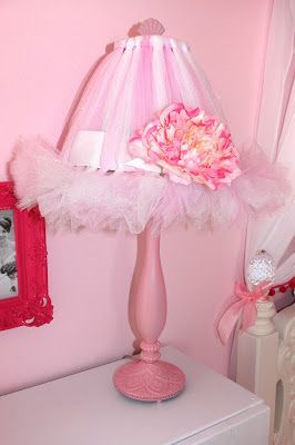 Toddler Princess Room - Pink tutu lamp shade tutorial
