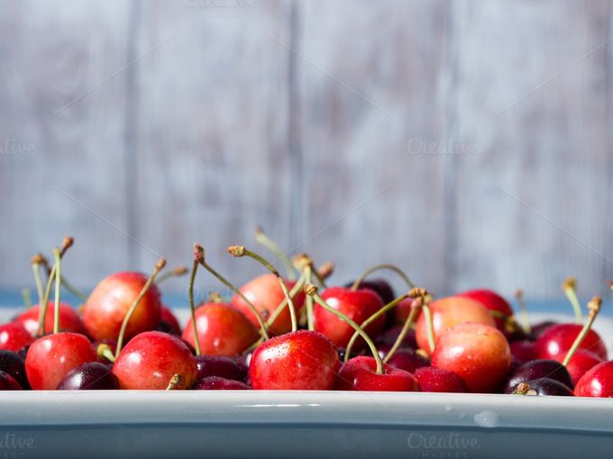 Fresh cherries by Life Morning Photography on @creativemarket