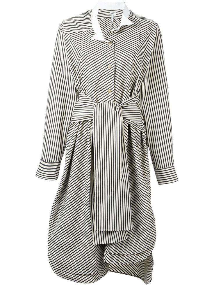 Loewe полосатое платье-рубашка