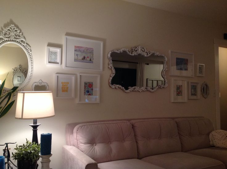 Living room picture wall. 2015