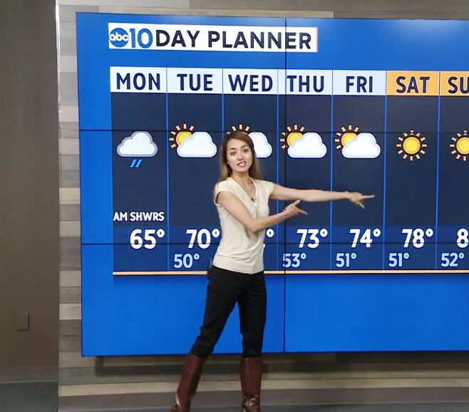 THE APPRECIATION OF BOOTED  NEWS WOMEN BLOG           : CASUAL CALI CHIC WITH ABC10'S MICHELLE APON