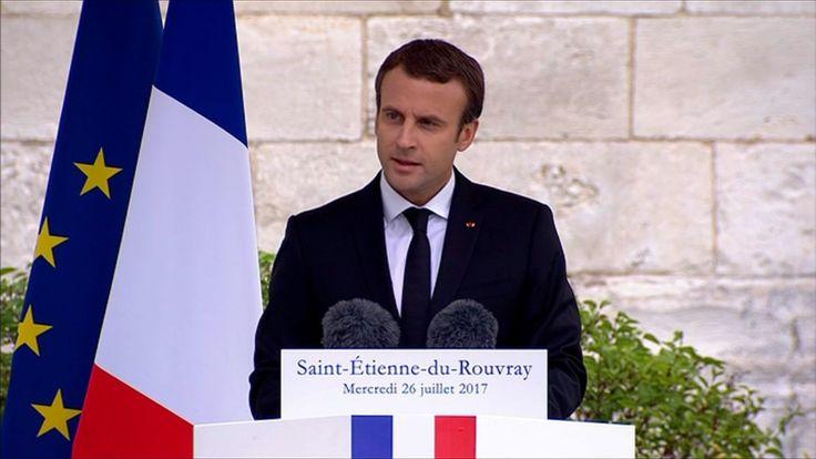 """Emmanuel Macron: """"La République n'a pas à combattre une religion"""""""
