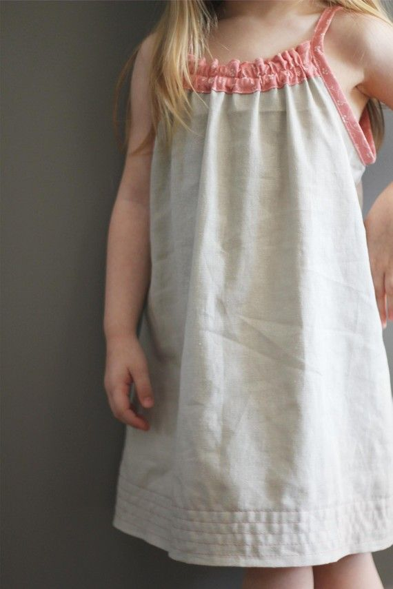 NEW Smock Top Dress pattern and tutorial PDF 12m-6t easy sew summer dress tunic