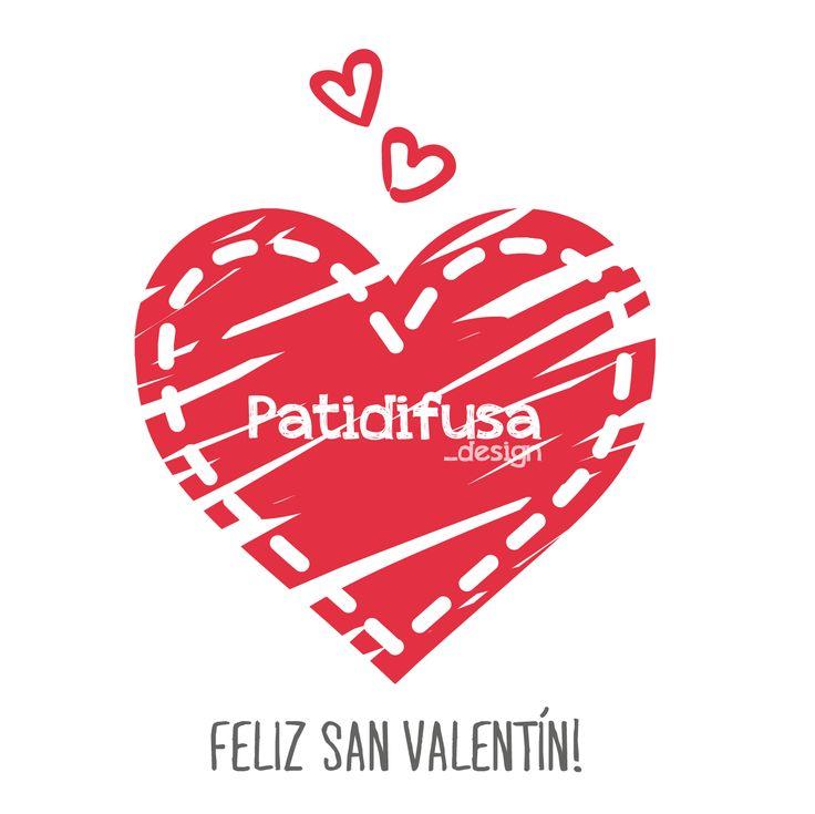 Customización de nuestro logo con motivo de San Valentín.
