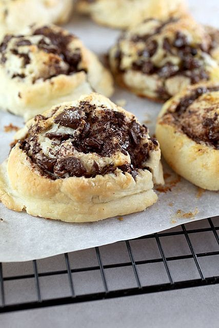 These are as amazing as they look (and easy, try them!!): Chocolate swirl biscuits by Bakerella