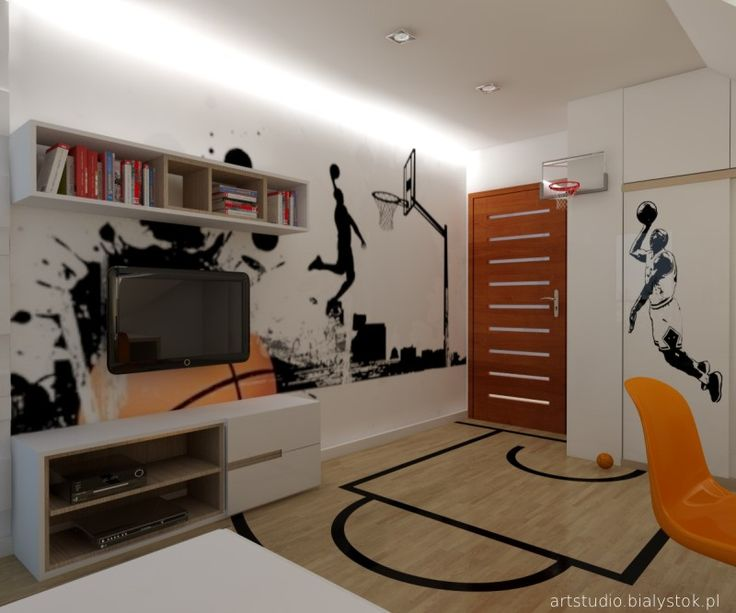 Young basketball player bedroom vol 1 artstudio kids for Room interior design for boys