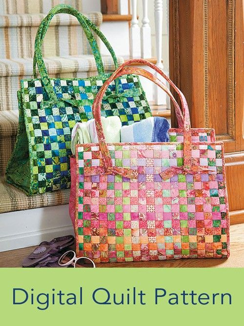 Woven Beach Bag Digital Pattern
