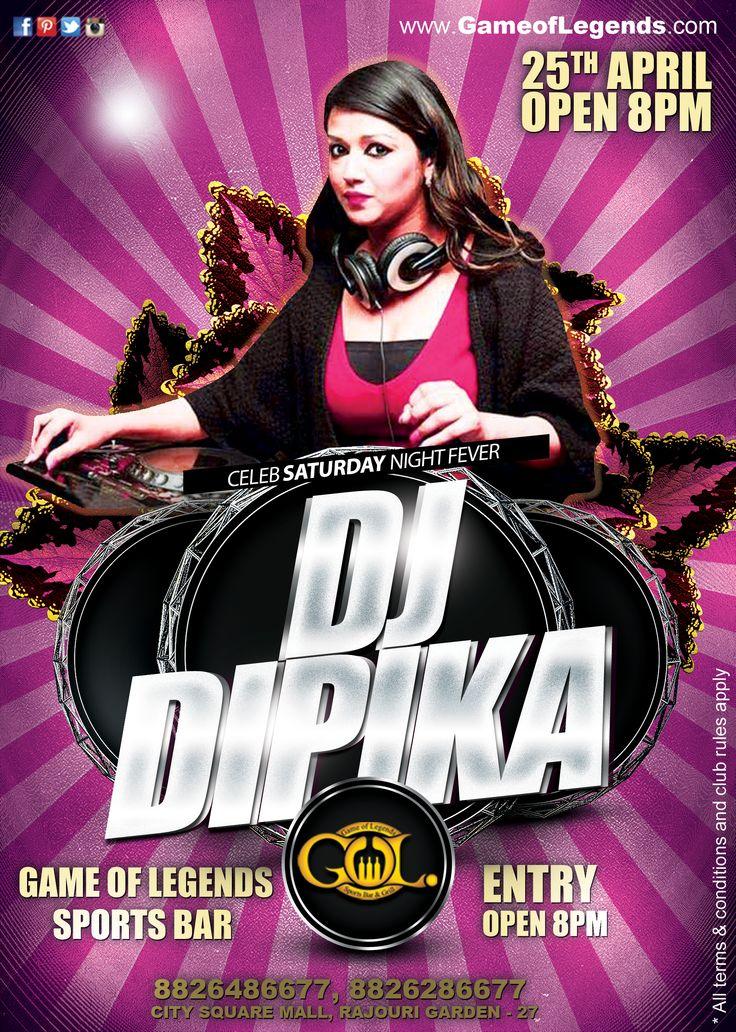 Dj Dipika performing live Game Of Legends Sports
