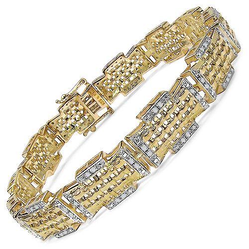 0.5 Ct.Tw. Diamond Link 14 KGP Bracelet