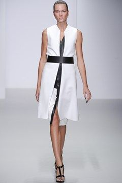 DAVID KOMA SS14 -  the simple wide black belt makes this outfit