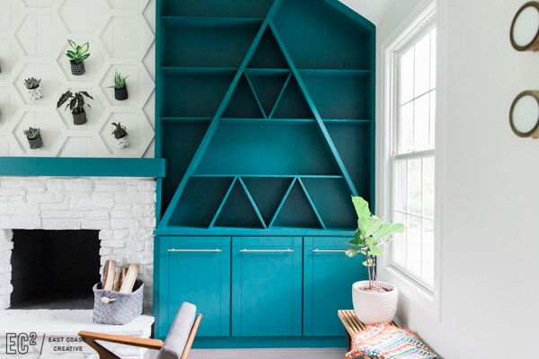 Image result for hgtv good bones blue built ins