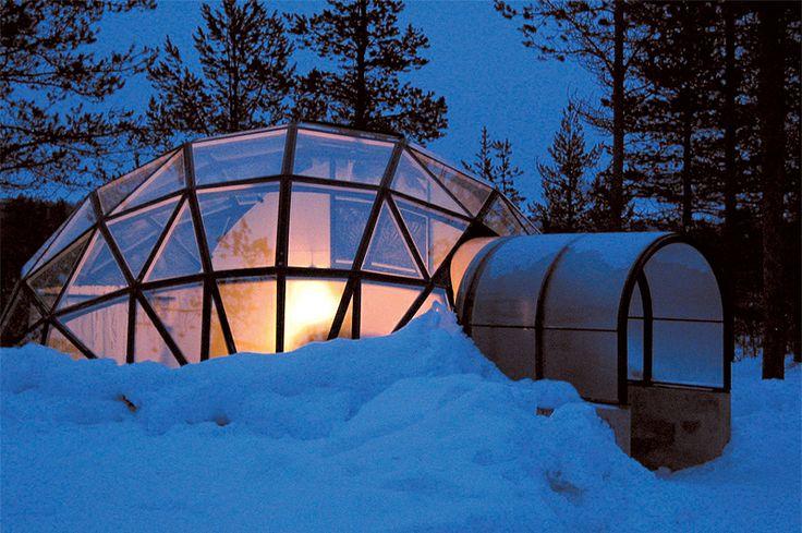 Overnachten in een ICE Room of een Glass Igloo #finland