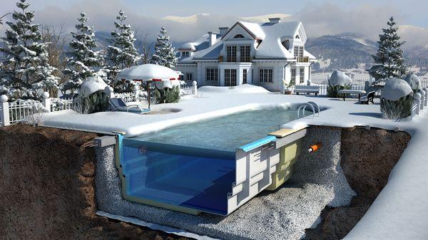 Composite Pools: Promotional Illustrations by Aleksei Segodin, via Behance
