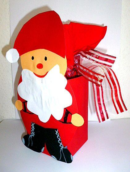 Nikolaus mit Sack aus Milchtüte - Weihnachten-basteln - Meine Enkel und ich - Made with schwedesign.de