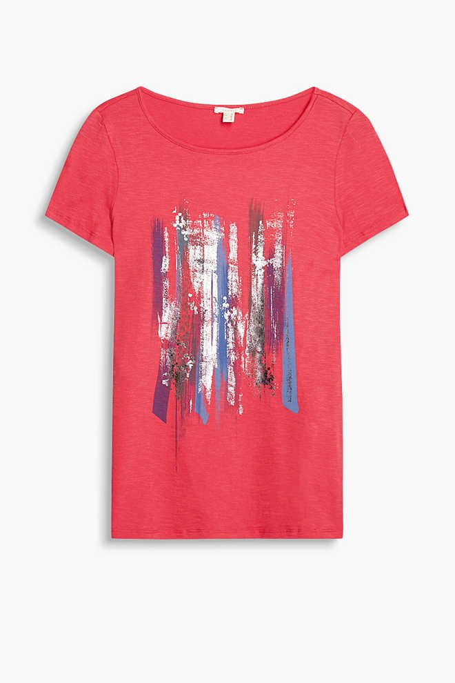 Esprit / Shirt mit Pailletten-Dekor, 100% Baumwolle