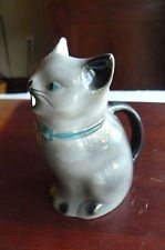 Tony Wood Staffordshire England BEAUTIFUL VINTAGE  Cat  Creamer