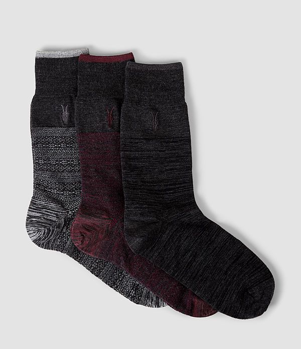 Fairisle Sock 3 Pack