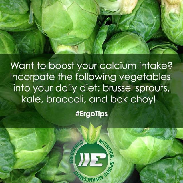Boost your calcium intake with these #plantbased foods! #ErgoTips