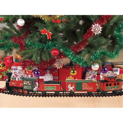 Train Going Around Christmas Tree