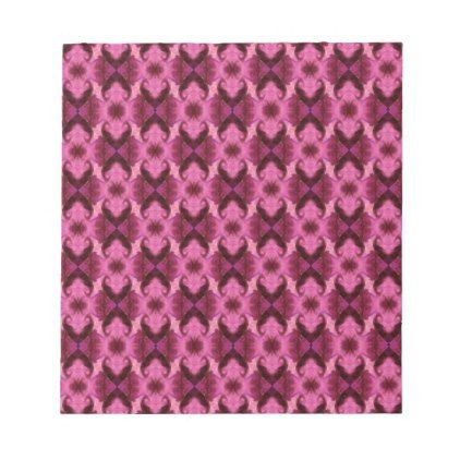Pink Damask Hearts Notepad - patterns pattern special unique design gift idea diy