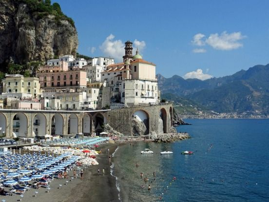 AMALFI COAST, ITALY. The road from Sorrento to Positano and on to Ravello along this famous holiday coast south of Naples plunges up, down and along a coastline that is World Heritage ...