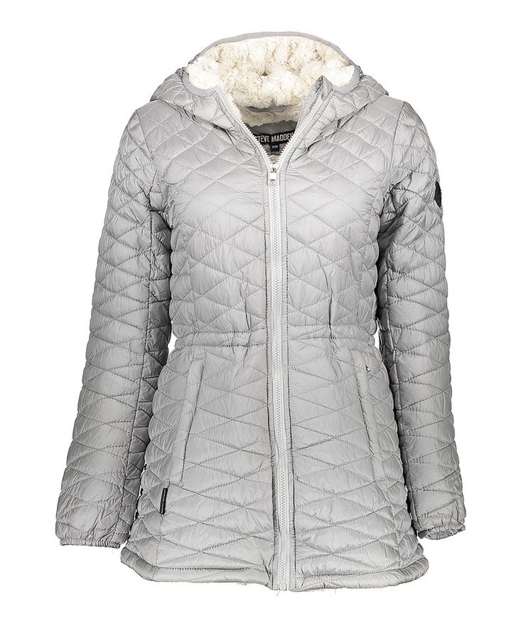 Take a look at this Steve Madden Silver Faux Fur-Lined Hooded Long Puffer Coat - Plus Too today! Wasv139.00 now only 34.00 !!