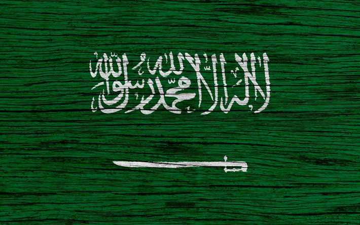Download wallpapers Flag of Saudi Arabia, 4k, Asia, wooden texture, Saudi flag, national symbols, Saudi Arabia flag, art, Saudi Arabia