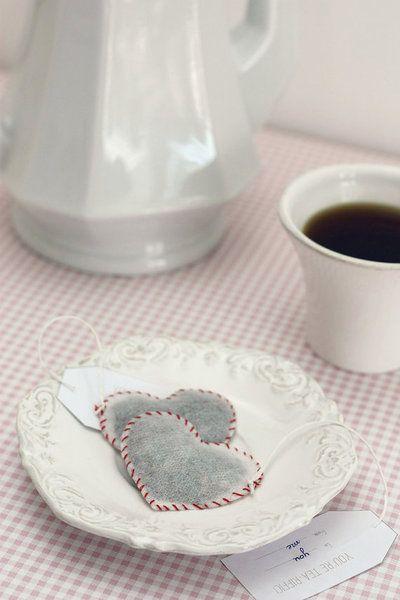 Sachets Mousseline Thé Coeur  de TeaHeritage sur DaWanda.com