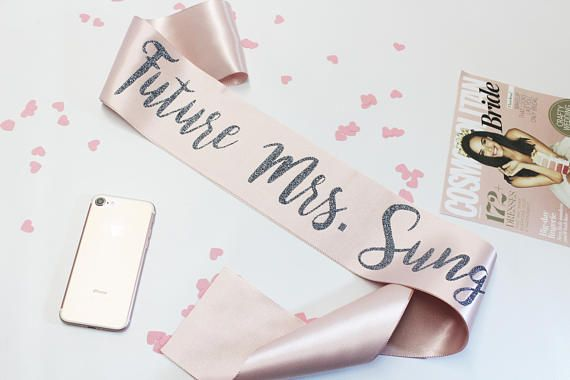 personalized bachelorette sash custom bridal sashes maid of honor bride to be sash