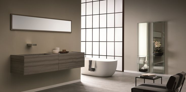 Toscoquattro is an Italian company manufacturing luxury bathroom furniture and complementary pieces, including baths, basins and accessories. The furniture shown is part of Toscoquattro's Time Collection.