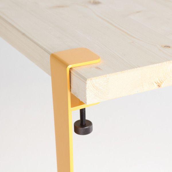 Jeu de 4 petits pieds de table amovible design industriel TipToe acier – TipToe Design