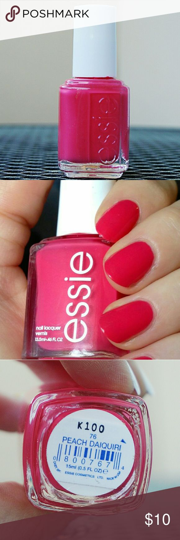Essie Peach Daiquiri Hot Pink Polish Never Used Nail Polish. Beautiful pink color, doesn't look good on my skin tone. Ships in 1-3 days, please bundle. Essie Makeup