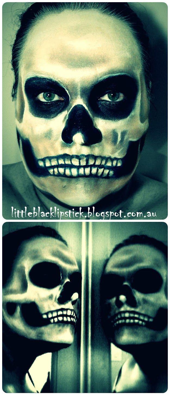 ... skull makeup tutorial half skeleton makeup you ...